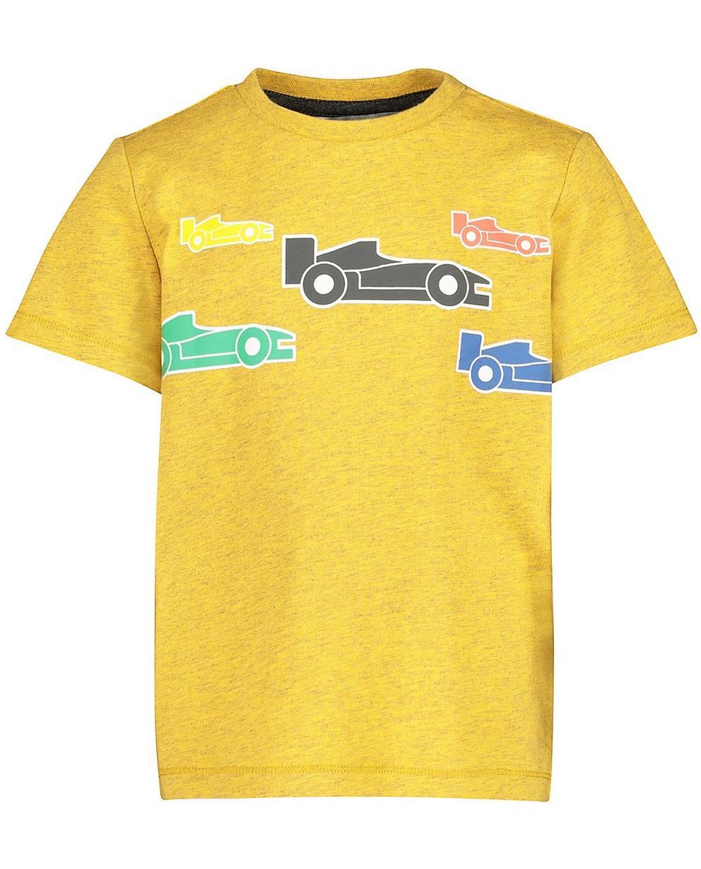 T-Shirts - Ockergelb - T-Shirt mit Autoprint